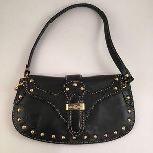 Michael Kors Black Leather Purse, Wristlet,Clutch
